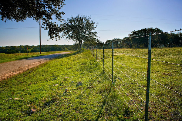 Barbed Fence - Hill Country, Texas
