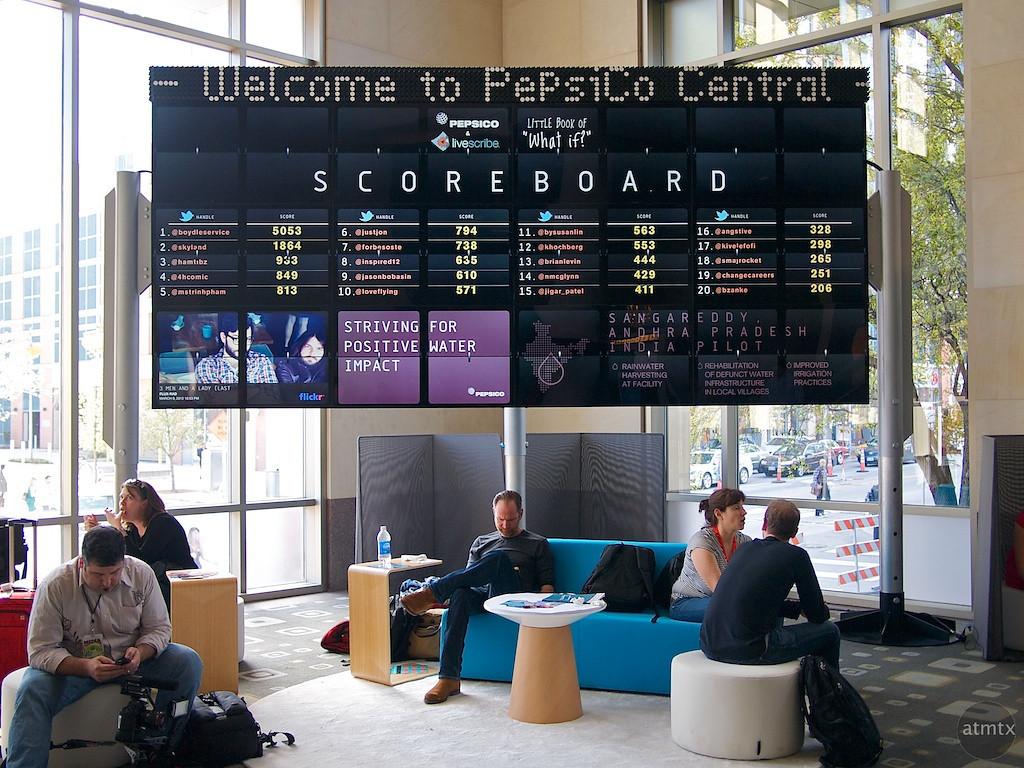 Pepsico Scoreboard, SXSW Interactive
