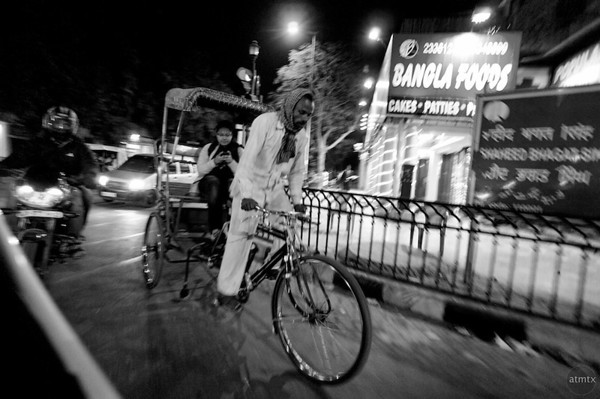 Rickshaw at Night - Delhi, India