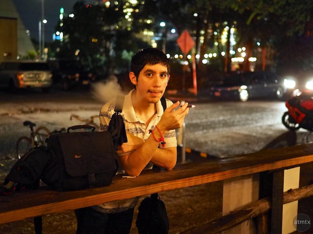Chris Smoking, Javalina Bar - Austin, Texas