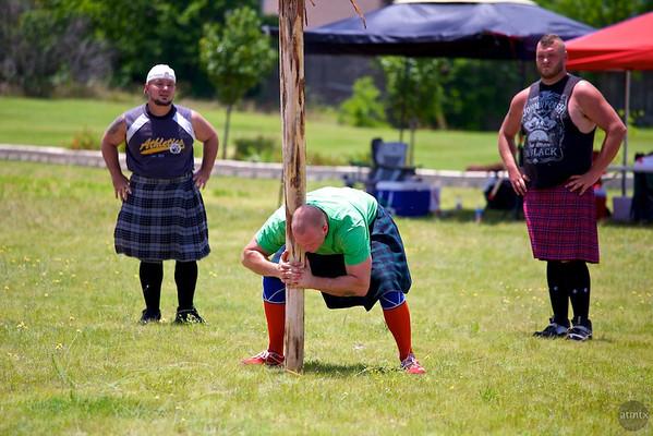 Caber Toss #1, Highland Games - Pflugerville, Texas