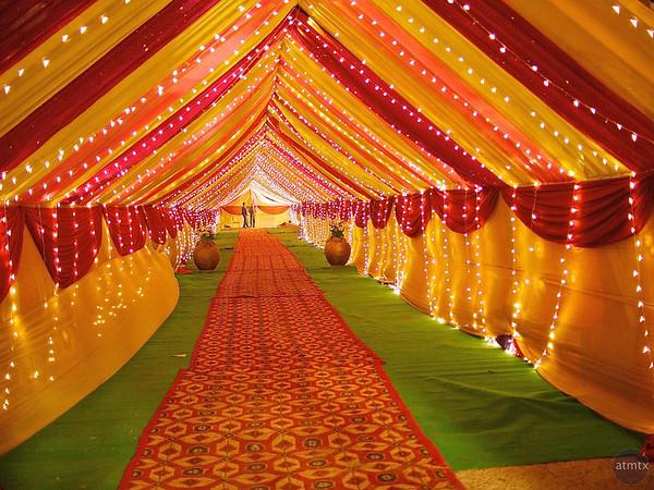 Wedding Tent Entrance - Delhi, India