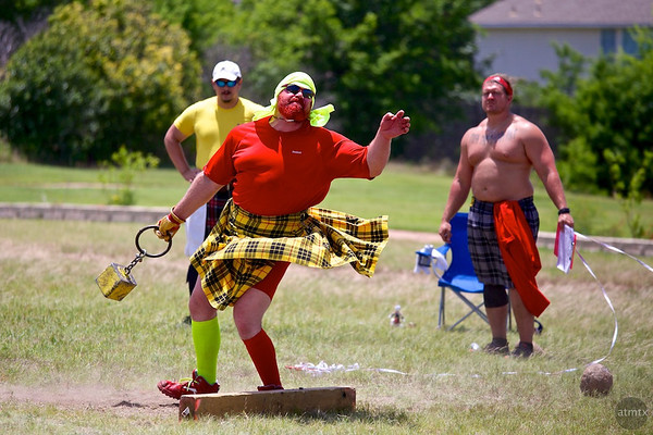 Weight for Distance (42 pounds) #1, Highland Games - Pflugerville, Texas
