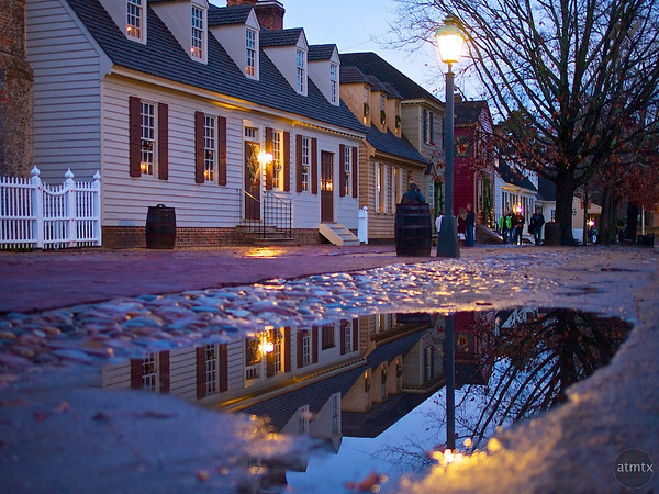 Reflection on Duke of Gloucester Street - Williamsburg, Virginia
