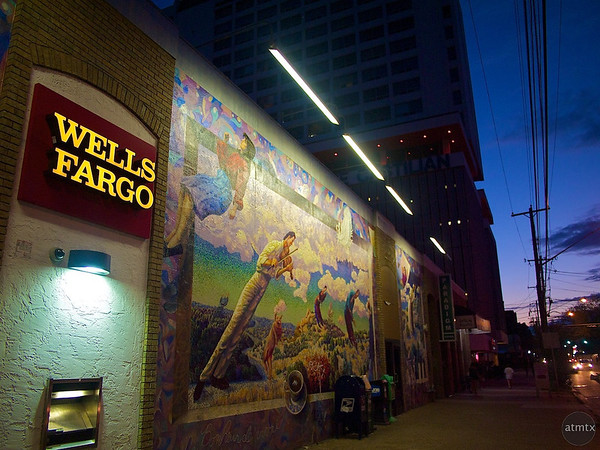 Wells Fargo and the Mural - Austin, Texas