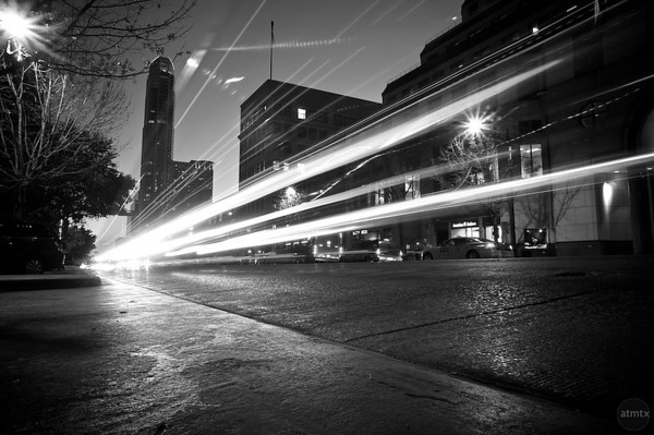 Congress Avenue Light Streaks