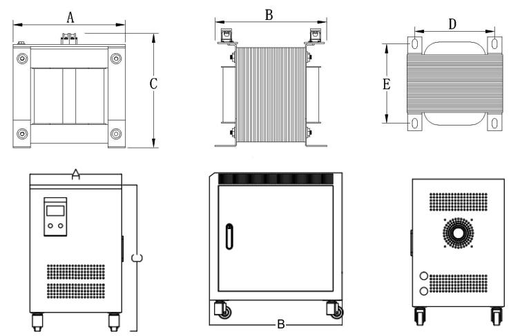 5 kVA Isolation Transformer, single phase, 230V to 120V