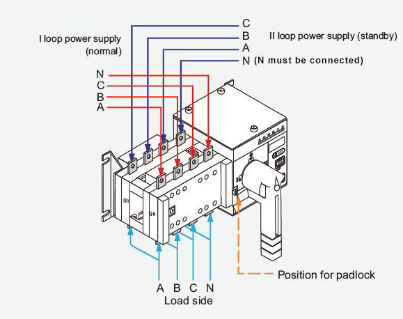 Connection Rotary Changeover Switch Wiring Diagram