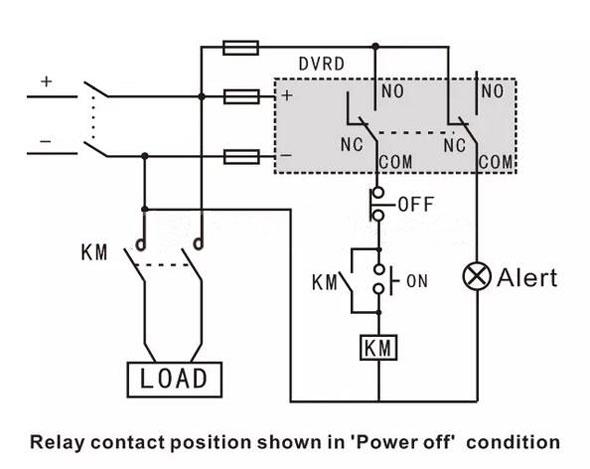 dc voltage monitoring relay under/over voltage 12v/24v/48v dc