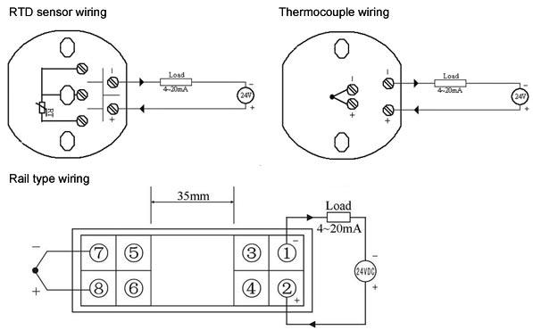 temperature transmitter pt100/e/k/s/b/t/j/n/r type
