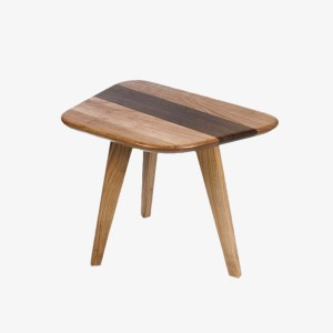 Antoine Mazurier Table d'appoint Caryopse bois merisier massif