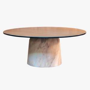 Le Point D Philippe Cramer Aouhmmm table basse bois chene marbre beton
