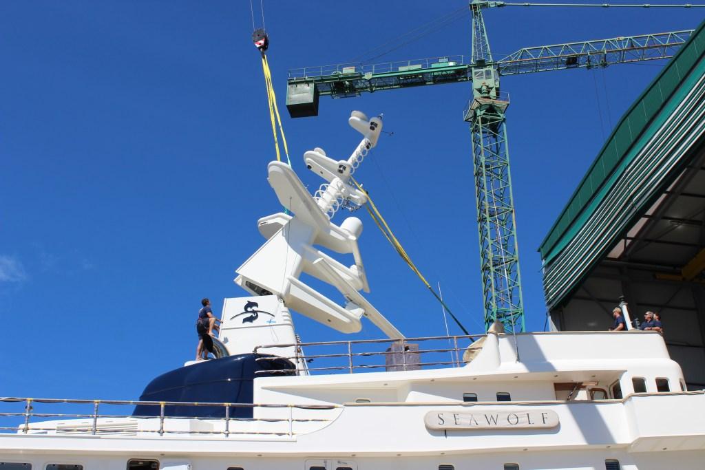 Seawolf Yacht Mast Maintenance - Atollvic Shipyard