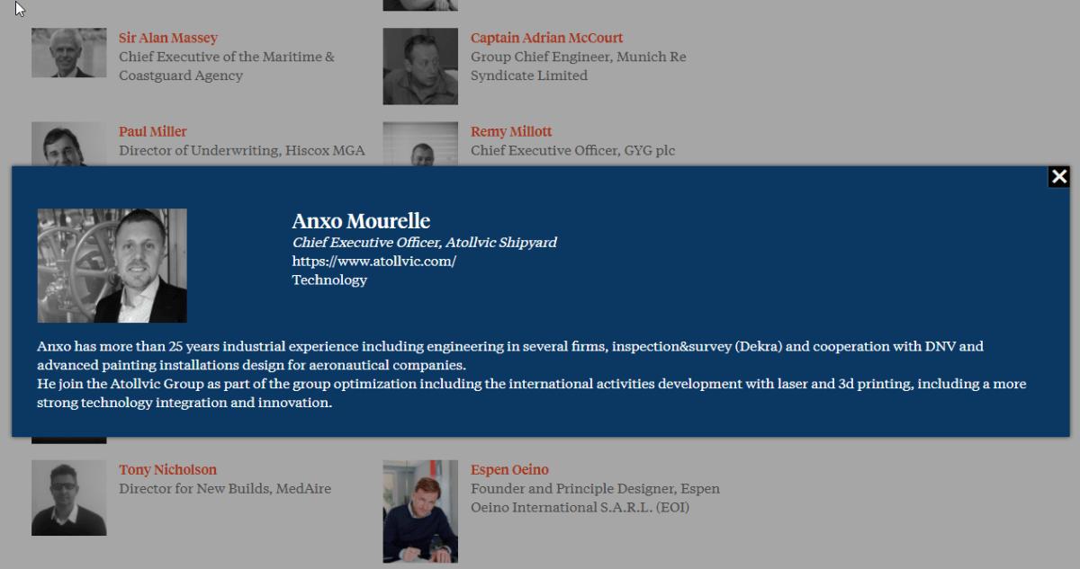 Anxo Mourelle. Atollvic CEO @ Superyacht Forum
