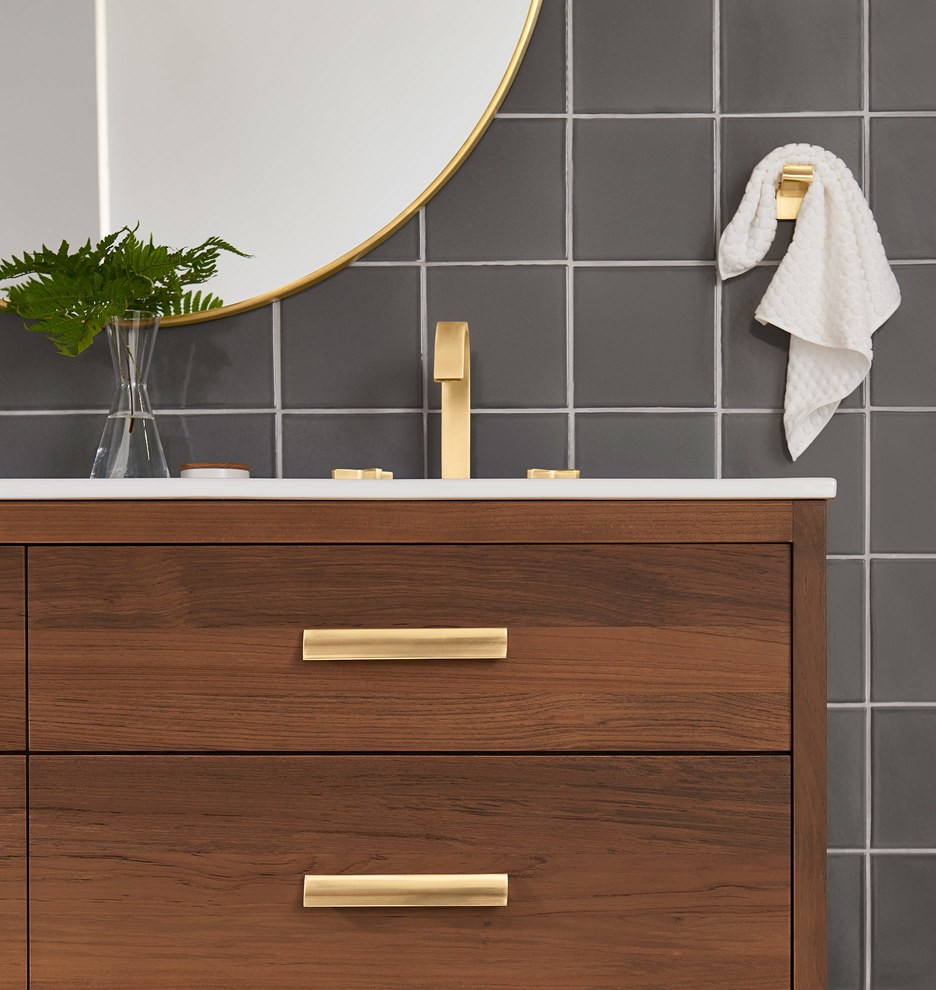 You Ll Swoon Over This Mid Century Bathroom Vanity Home
