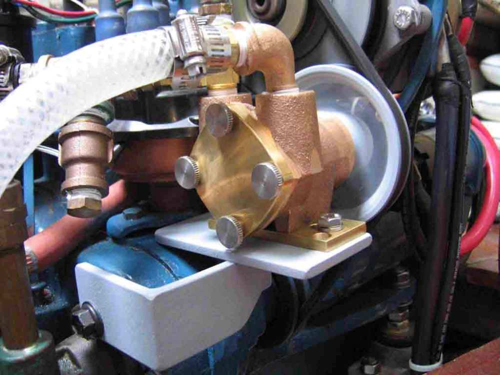 medium resolution of  new raw water pump from starboard side