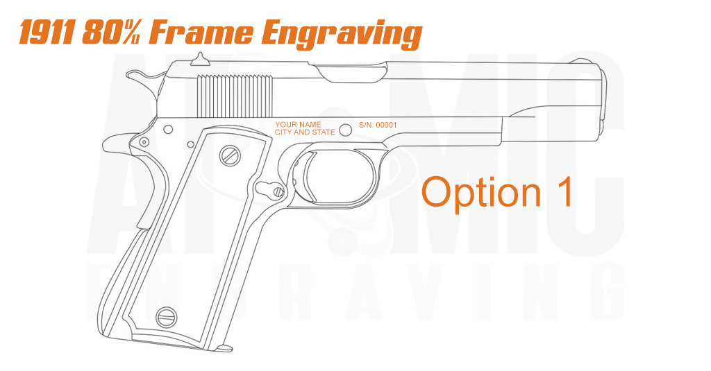 Ca Compliance engraving for 1911 frames