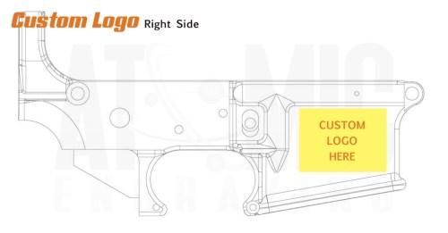 Logo Engraving for AR15 receivers. Custom 80% logo engraving