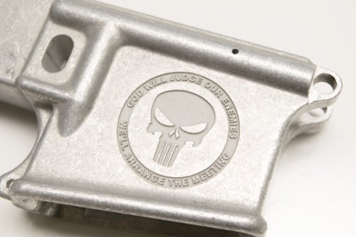 ar15 Custom engraved lower 80% Punisher