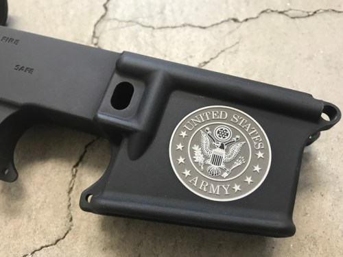 US Army Logo engraving