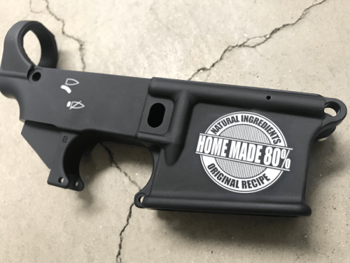 80% home made AR15 custom engraved lower receiver
