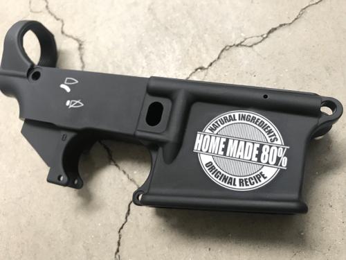 80% home made AR15 custom engraved lower receiver