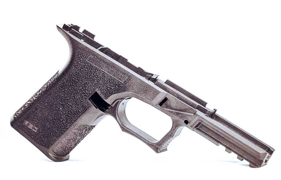 80% PF940CL Compact Long Slide 17/22 Glock 19 Pistol Frame with  Identification Engraving