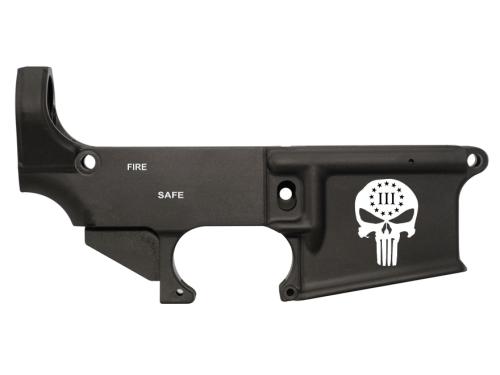 80% Lower AR15 Punisher Engraved Custom