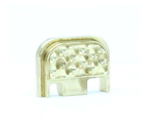 Brass glock slide cover plate