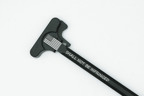 Custom Engraved USA Flag Shall Not Be Infringed Charging Handle