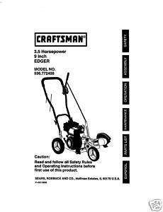 Sears Craftsman Edger Manual Model 536 772400
