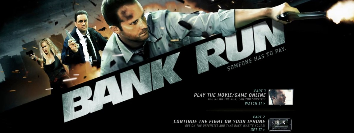 """Bank Run"": It's an iPhone App. It's an Interactive Movie. It's All the Above."
