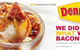 Denny's Maple Bacon Sundae
