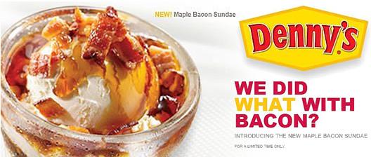 Denny's Maple Bacon Sundae
