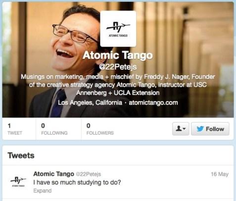 Yet another fake Atomic Tango profile