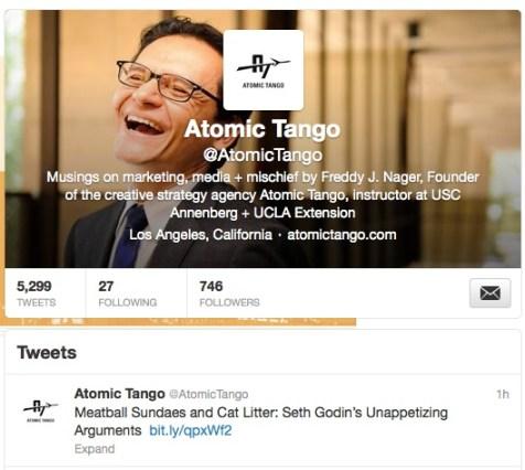 Atomic Tango Twitter profile