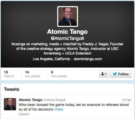Fake Atomic Tango profile