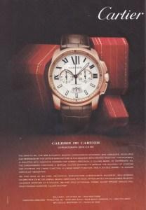 Cartier watch ad