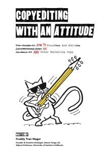 """Copyediting With An Attitude"" Book Cover"