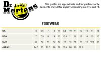 Doc Martens Size Chart Cm The Doc Martens Sizing Fail