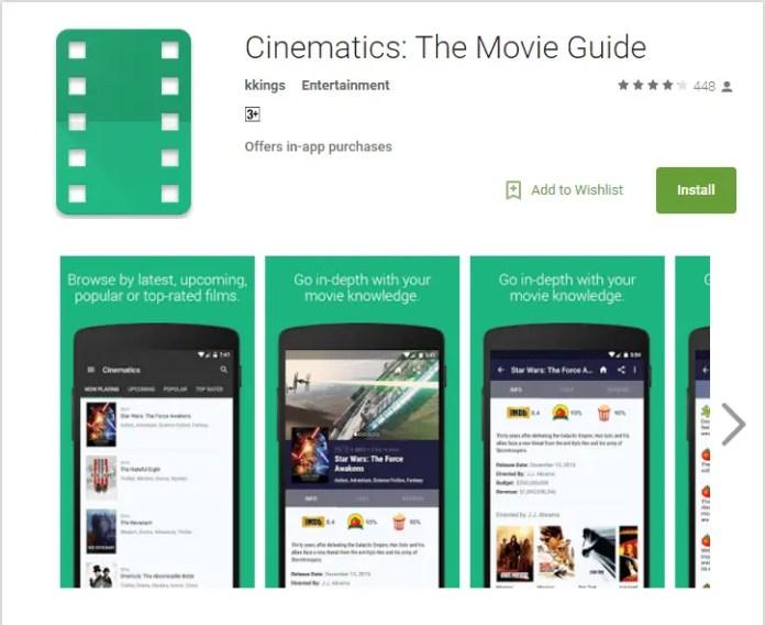 Cinametic App