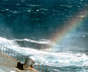 Sea water rainbow