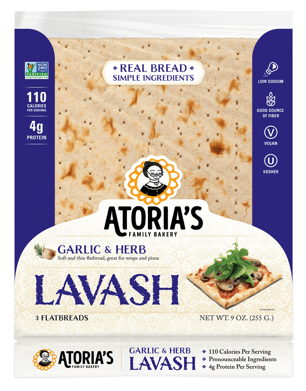 Lavash Garlic & Herb