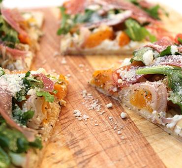 Apricot & Prosciutto Lavash Pizza
