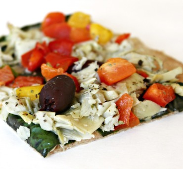Mediterranean Lavash Pizza