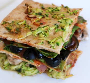 Vegan Tomato Zucchini Lavashna