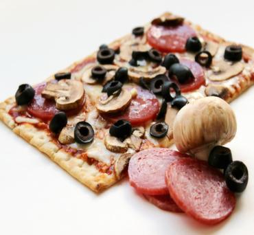 Pepperoni and Mushroom Lavash Pizza