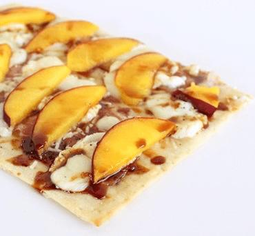Balsamic Peach Lavash Pizza