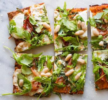 Lavash Pizza with Prosciutto and Arugula