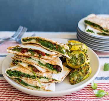 Lavash Panini with Summer Vegetables